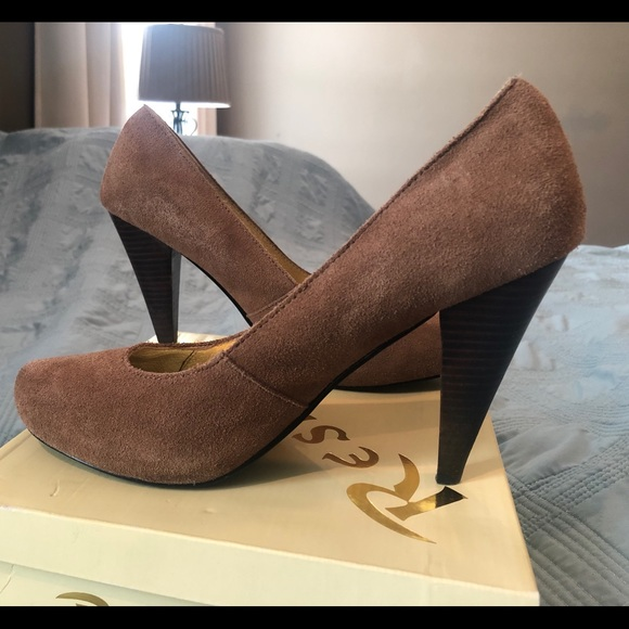 Restricted Shoes - Restricted Women's Tan Suede Heels Size 10